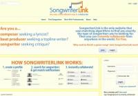 songwriterlink homepage