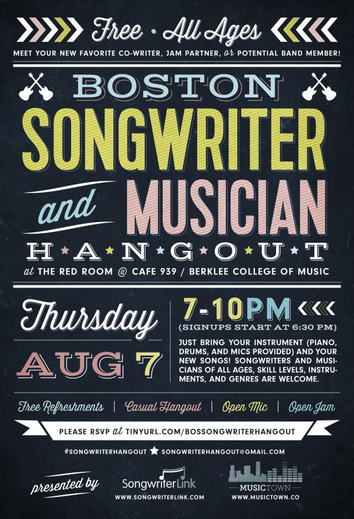 boston songwriter musician hangout