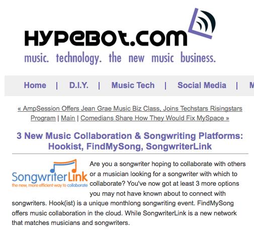songwriterlink hypebot