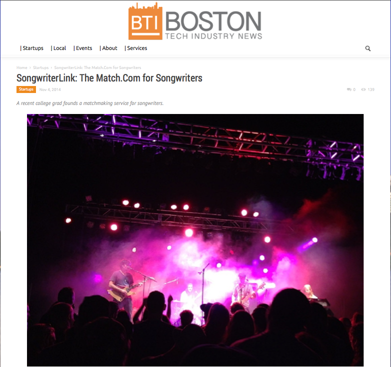 songwriterlink boston tech industry news