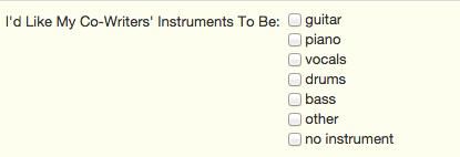songwriterlink co-writer instruments