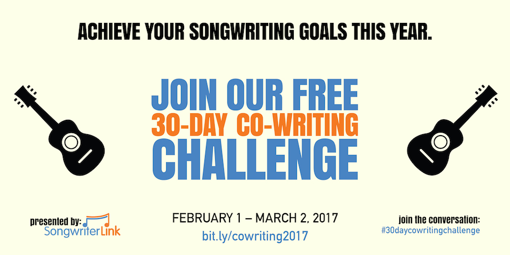 co-writing challenge 2017 songwriterlink blog