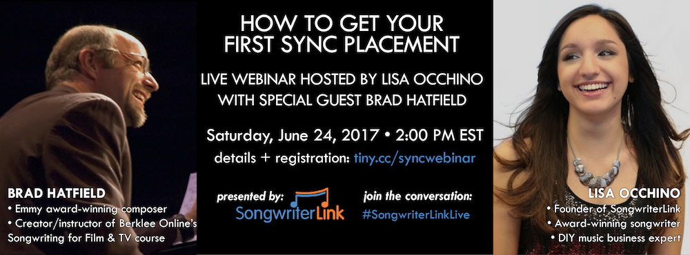 sync licensing webinar lisa occhino brad hatfield songwriterlink